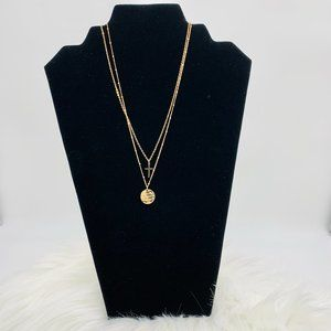Jewelry - Layered necklace: Coin & Cross Pendants NWT